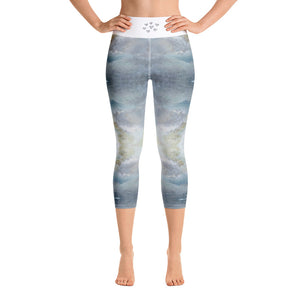 Heather Mountain - Leggings Aspen Wear Canvas Print Mid Clonlea Design blue Elaine Tomlin Irish Art