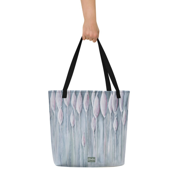 Bull Rushes Designer Tote Bag.  Unique Irish Design