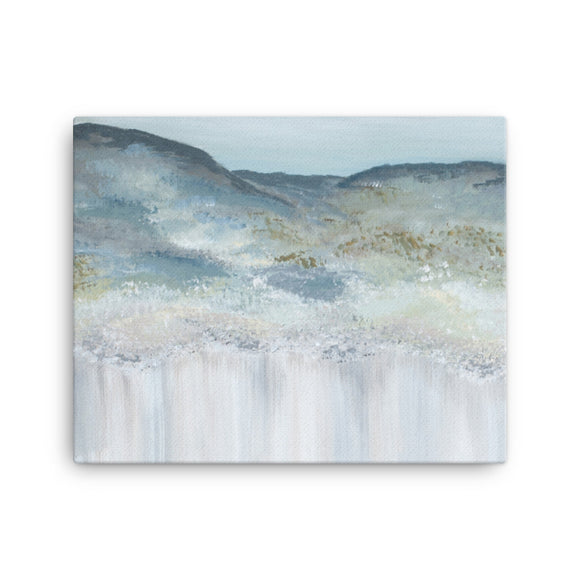 Heather Mountain - Canvas Print Mid Clonlea Design blue Elaine Tomlin Irish Art