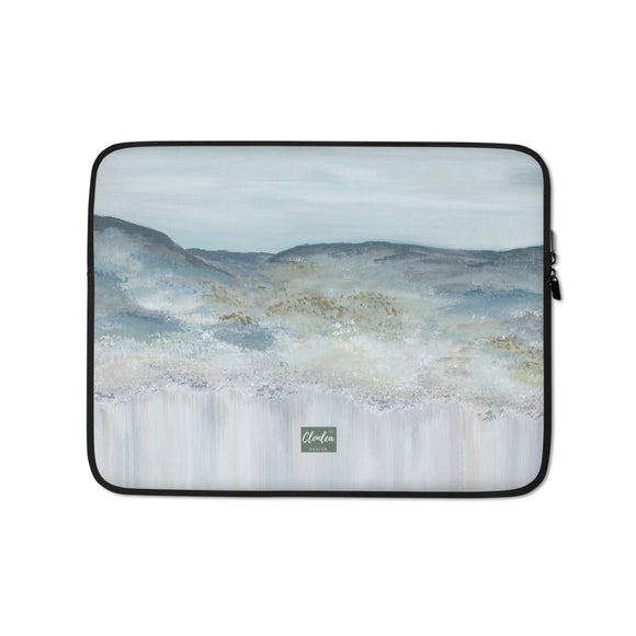 Designer Heather Mountain Laptop Sleeve. Neoprene Case Computer Bag Accessory
