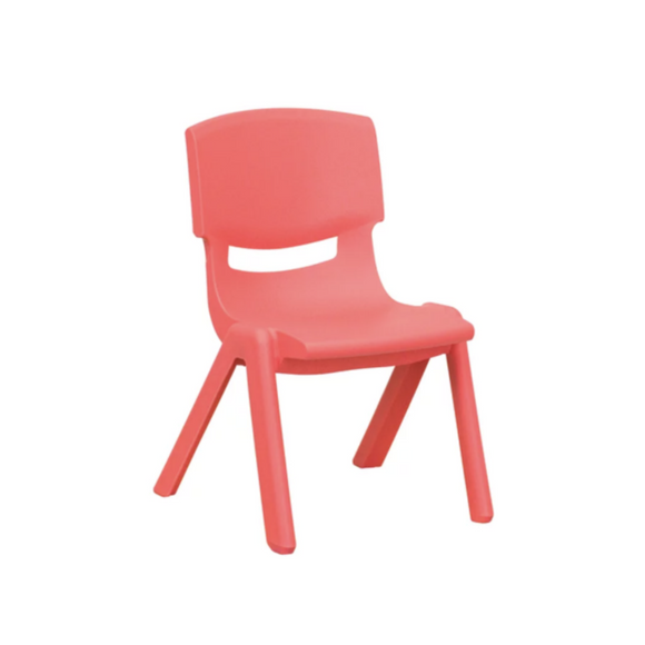 RED BASIC PLASTIC CHILD CHAIR