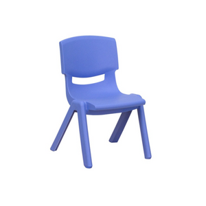BLUE BASIC PLASTIC CHILD CHAIR