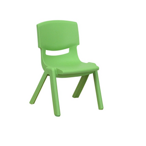 GREEN BASIC PLASTIC CHILD CHAIR
