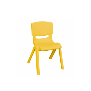 YELLOW BASIC PLASTIC CHILD CHAIR