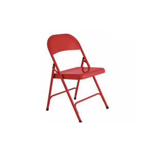 RED FOLDING ADULT CHAIR