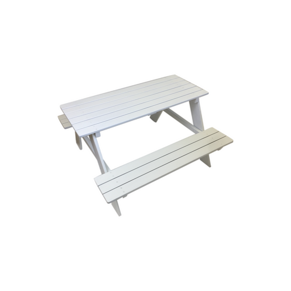 WHITE PICNIC CHILD BENCH