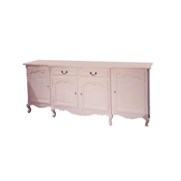 LARGE PALE PINK DISPLAY TABLE