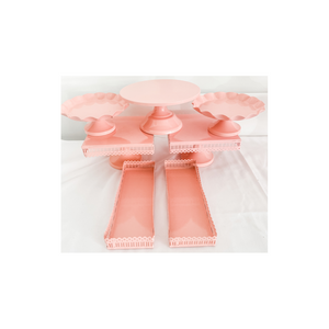 PINK METAL CAKE STANDS
