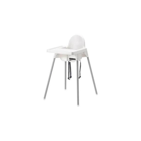 WHITE CHILD PLASTIC HIGH CHAIR