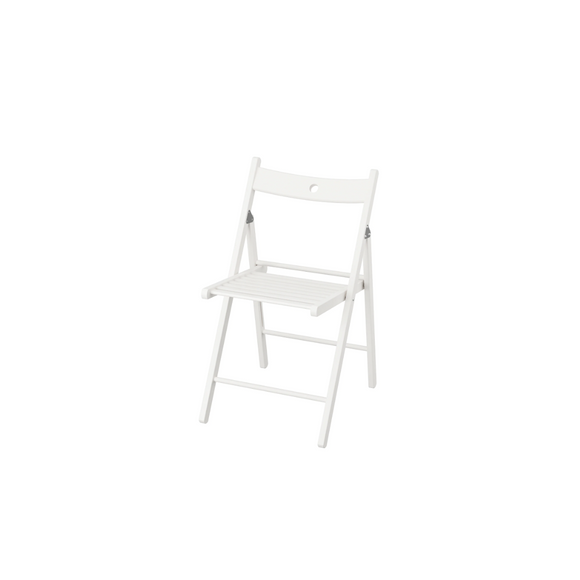 WHITE FOLDING ADULT CHAIR