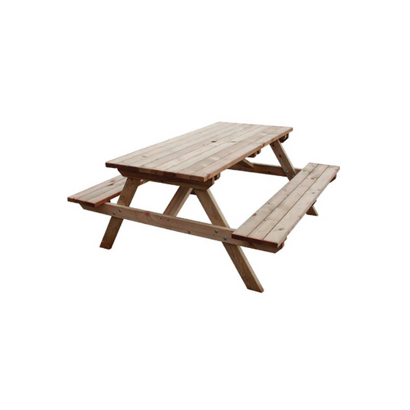 ADULT PICNIC BENCH - NATURAL