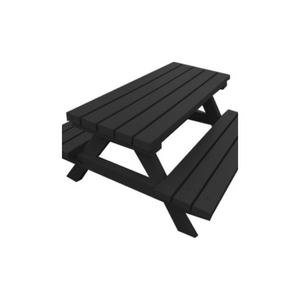 ADULT PICNIC BENCH - BLACK
