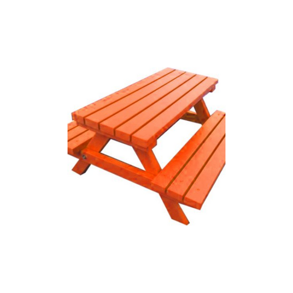 ADULT PICNIC BENCH - ORANGE