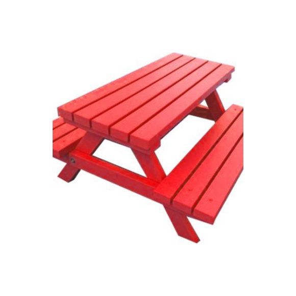 ADULT PICNIC BENCH - RED