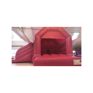 PLAIN PINK BOUNCY CASTLE WITH SLIDE