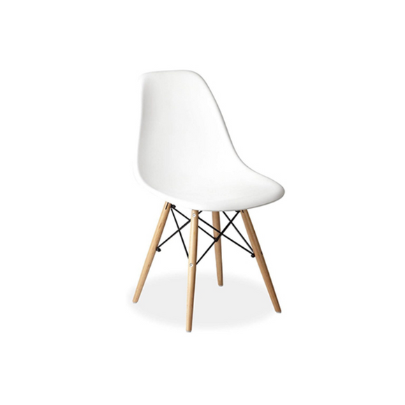 WHITE ADULT EAMES CHAIR