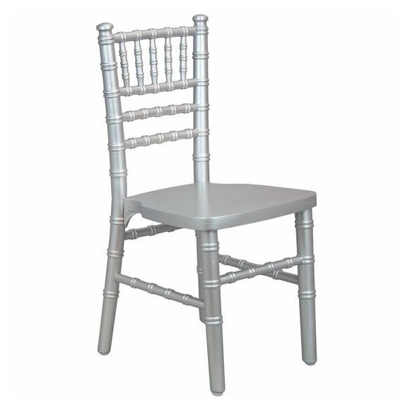 SILVER CHIAVARI CHILD CHAIR