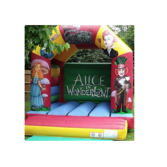ALICE IN WONDERLAND BOUNCY CASTLE