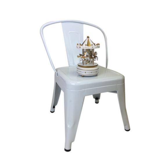 WHITE METAL TOLIX CHILD CHAIR