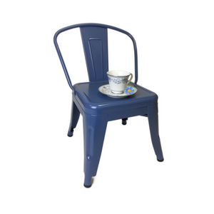 BLUE METAL TOLIX CHILD CHAIR