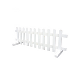 WHITE WOODEN FREESTANDING PICKET FENCE