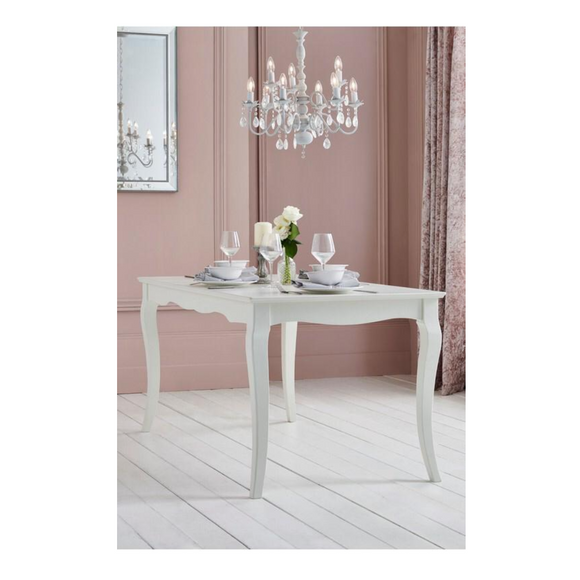WHITE DECORATIVE LARGE TABLE