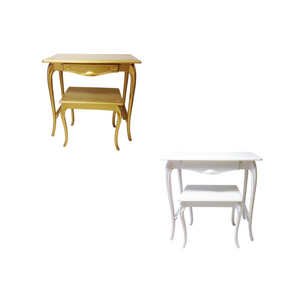 TWO TIER TABLES - IN WHITE OR GOLD