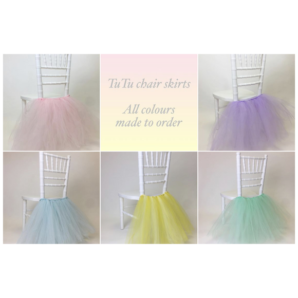 TULLE CHAIR TUTU SKIRTS - ALL COLOURS