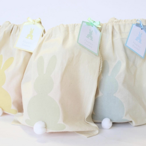 BUNNY TAIL CANVAS PARTY BAGS