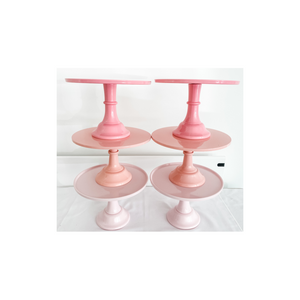 PINK CAKE STANDS