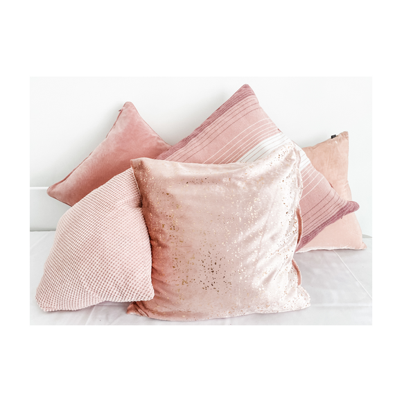 SELECTION OF PINK CUSHIONS