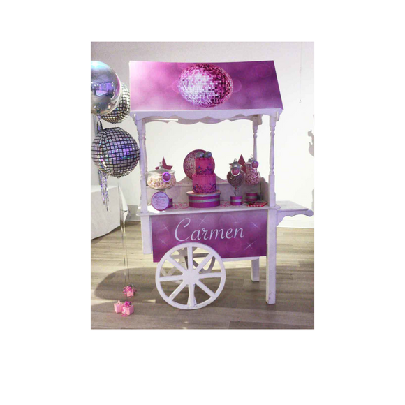 PRINTED SWEET CART PANELS - PERSONALISED