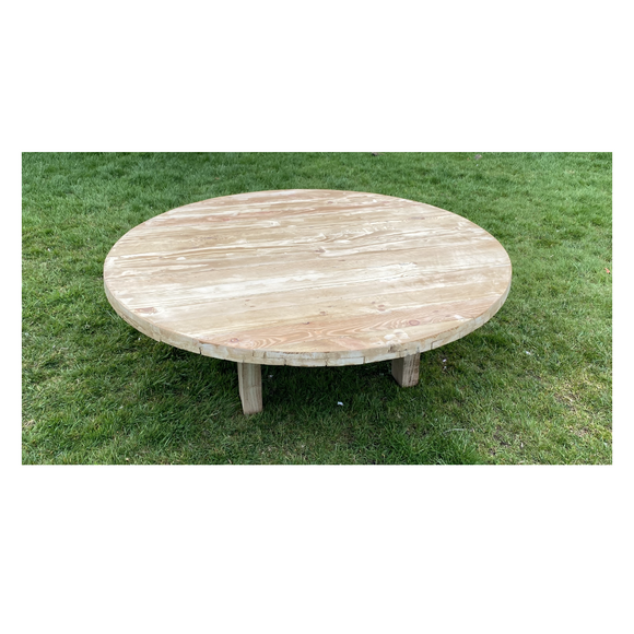 LOW WOODEN ROUND TABLE