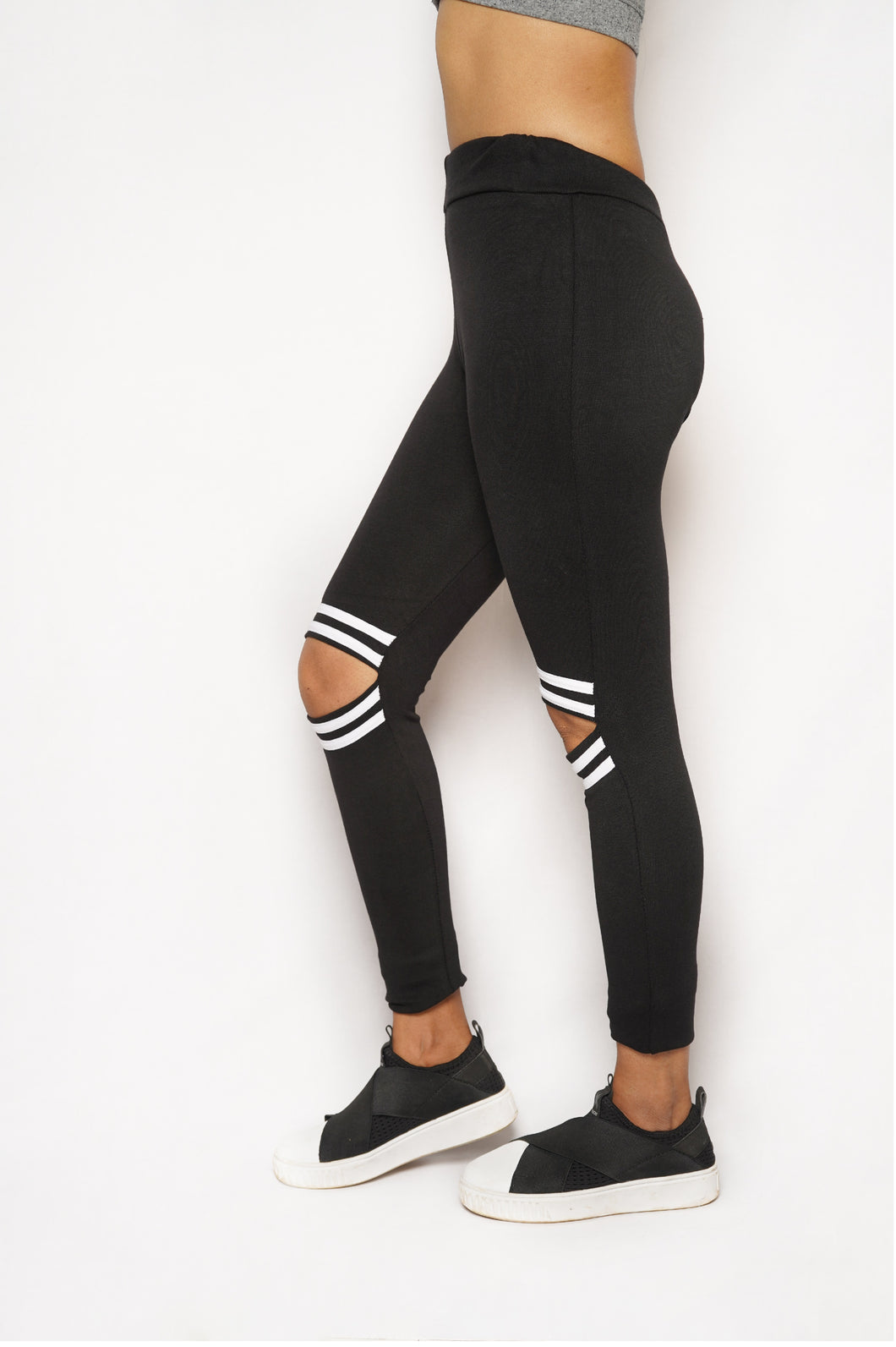 Knee Cut cotton Sports Leggings