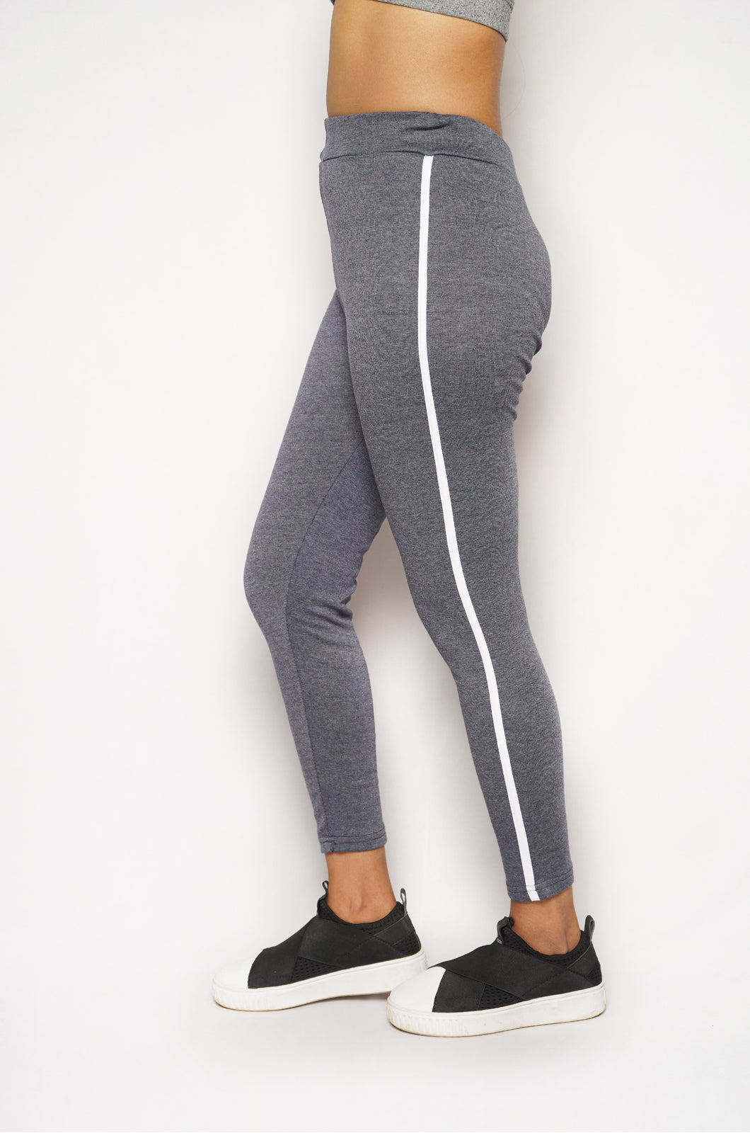 Cotton Side Strip Leggings | Comfortable | Skinny