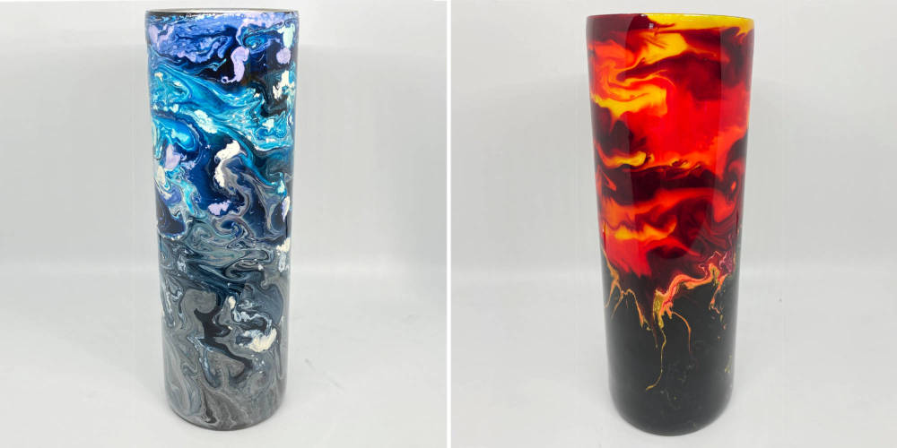 alcohol ink tumblers