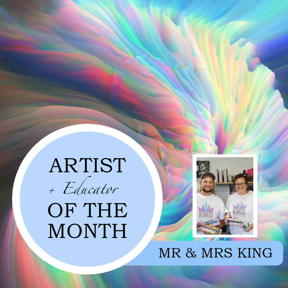 August Alcohol Ink Artist & Educator Of The Month