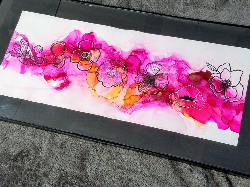 Etsy's ArtSoulCheek's work is a great example of Alcohol Ink Art on Yupo Paper
