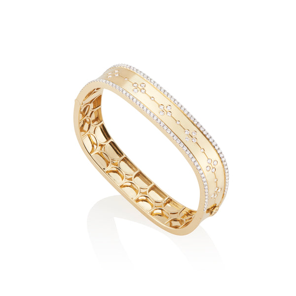 Wide Etoile Bangle with Pavé