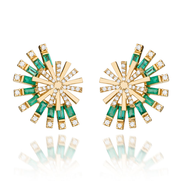 Emerald Moulin Single Earrings