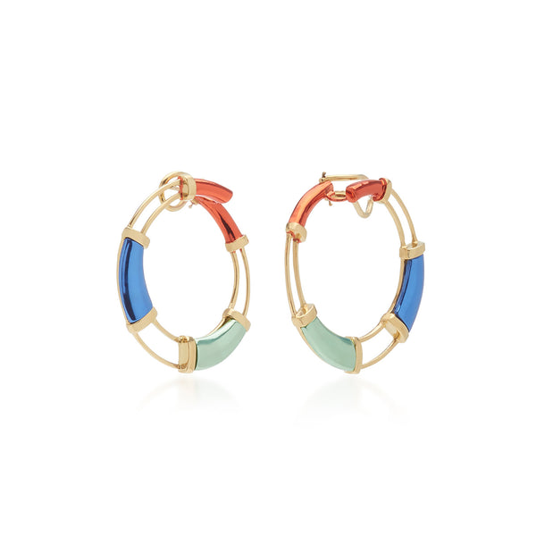Multi Color Hoop Earrings