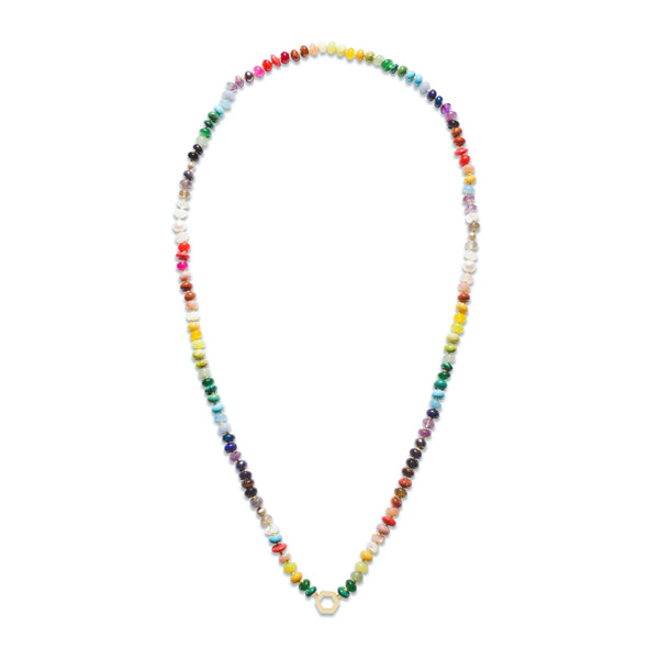 Rainbow Bead Foundation Necklace