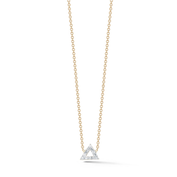 Mini Pave Triangle Necklace