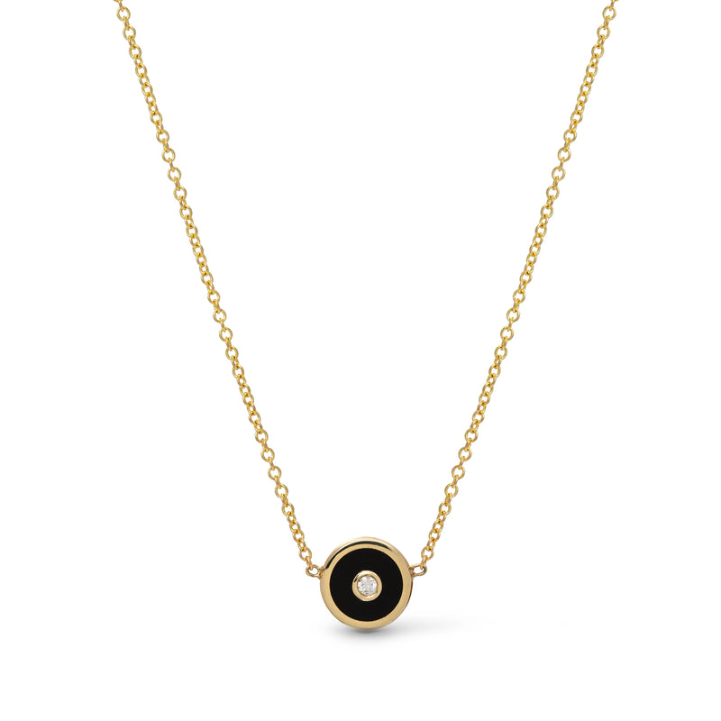 Mini Compass Pendant - Black Onyx