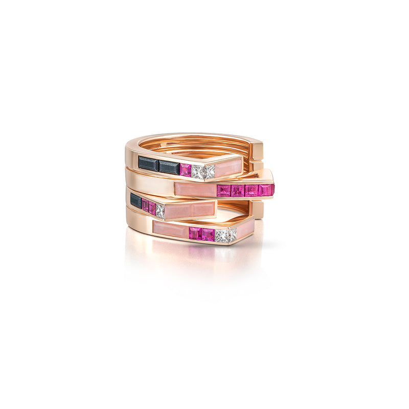 Pair of Stellar Two Row Stacking Bands