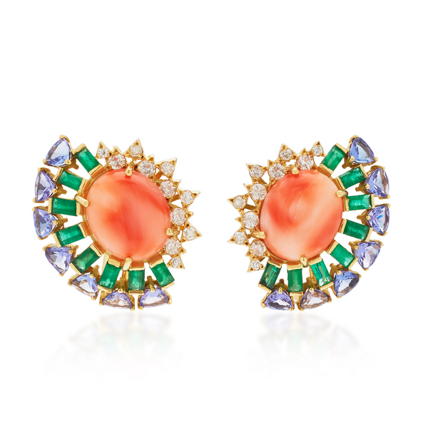 Peach Magic Earrings