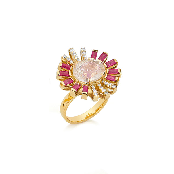 Morganite Sunshine Ring