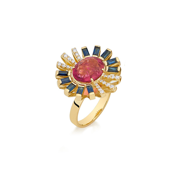 Rubellite Sunshine Ring