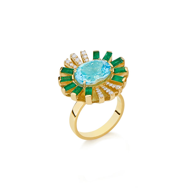 Topaz Sunshine Ring