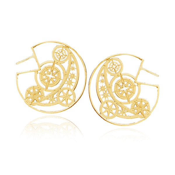 Large Talisman Flat Hoops